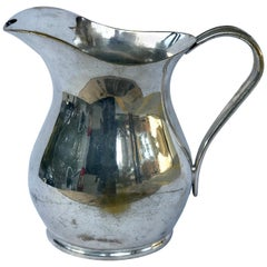 Vintage Hotel Silver Plated Water Pitcher