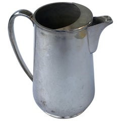 Vintage Hotel Silver Plated Water Pitcher, Smaller