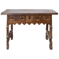 17th Century Spanish Writing Table with Drawers
