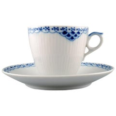 "Royal Copenhagen ""Princess"" Coffee Cup with Saucer, 10 Sets"