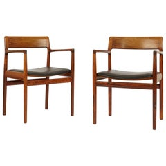 Pair of Rosewood Dining Chairs, Denmark, 1960s