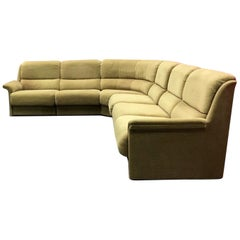 Laauser Large Vintage Sectional Green Sofa, 1960s