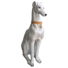 Vintage Italian Terracotta Dog Greyhound Whippet