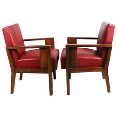 Pair of 1940s Vintage French Occasional Chairs