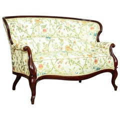 Louis Philippe Mahogany Sofa in a New Upholstery, circa 1870