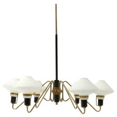 Midcentury Six-Arm Italian Chandelier