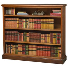 Victorian Solid Oak Open Bookcase by Shoolbred