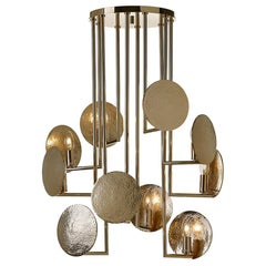 Grant Inspired Brass Gold Color Finish Suspension Lamp