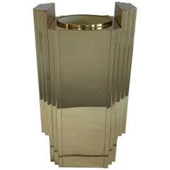 Mid-Century Modern Lorin Marsh Brass Bronze Skyscraper Deco Vase Umbrella Stand