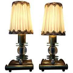 Jacques Adnet Pair of Table Lamps, France, 1950s