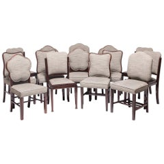 Collection of Fourteen Shanghai Deco Rosewood Dining Chairs
