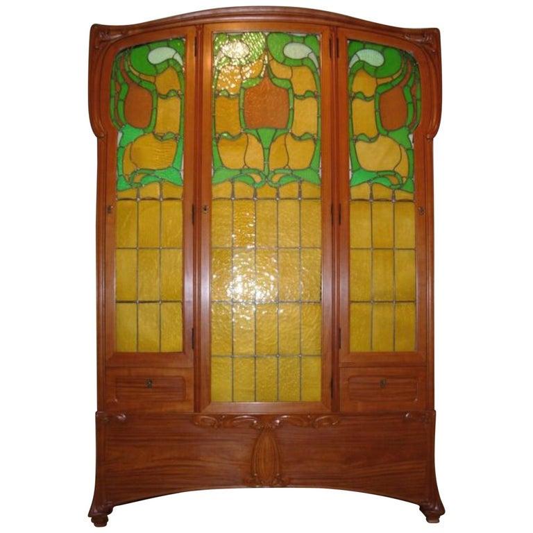 "Edouard Colonna Art Nouveau Paris ""Bibliotheque Victor Hugo"" Cabinet For Sale"