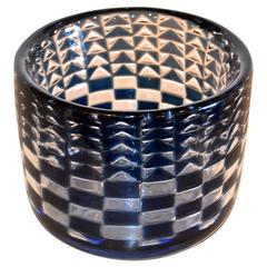 "Ingeborg Lundin for Orrefors Geometric ""Ariel"" Glass Bowl"