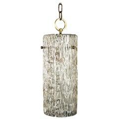 Structured Glass Pendant Chandelier by J.T. Kalmar