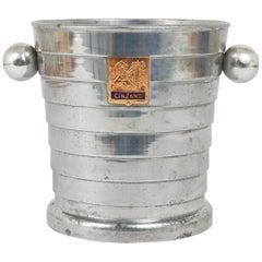 1950s Mid-Century Enameled Cinzano Bottle Cooler Ice Bucket, Italy, 1950s