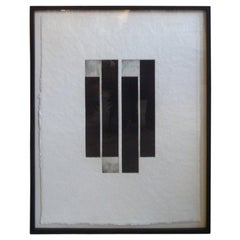 David Lasry Black and White Abstract