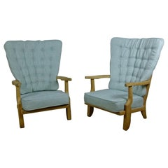 """Pair of 1960s """"Grand Rest"""" Armchairs by Guillerme et Chambron"""