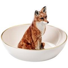 Porcelain Bowl with Fox Figure Sofina Boutique Kitzbuehel