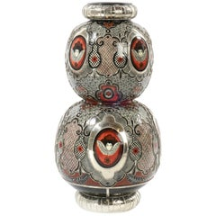 Cherubs Jar Ceramic and White Metal 'Alpaca', One of a Kind