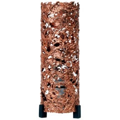 Brutalist Copper Table Lamp, 1960s