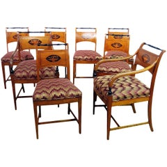 Set of 8 Biedermeier Style Dining Chairs