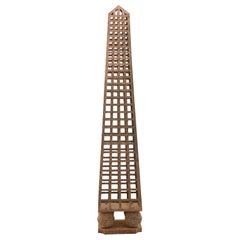 French Jardin Iron Obelisk