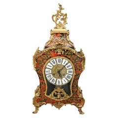 20th Century French Boulle Louis XV Style Table Clock Pendule