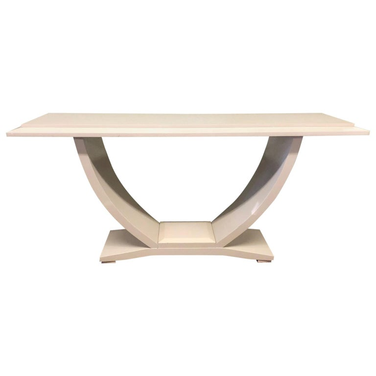 Drexel Heritage Lacquered Console Table For Sale