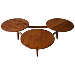 Walnut Coffee Table in the Style of Greta Grossman, circa 1959