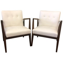 Pair of Restored Midcentury Jens Risom Lounge Chairs