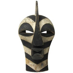 "Black and White ""Zebra"" Tribal Mask"