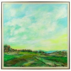 Oil on Canvas Artist Signed Gilles Gosselin La Chanson du Soir