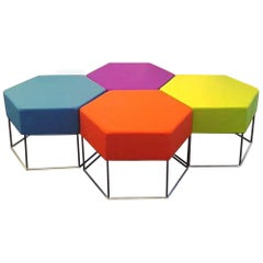 Colorful Set of Sei Hexagonal Seats