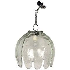 """Medusa"" Jellyfish Chandelier Pendant by Lamperti, Italy, 1960s Murano Glass"