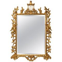 Friedman Brothers Carved Wood Gold Gilt Birdcage Eagle Mirror