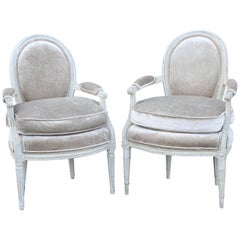 Pair of 18th Century French Fauteuil