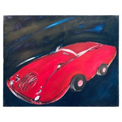 """""""Red Passion"""" 2010, Painting on Canvas by Greddy Assa"""