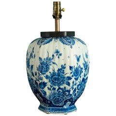 Antique Delft Table Lamp