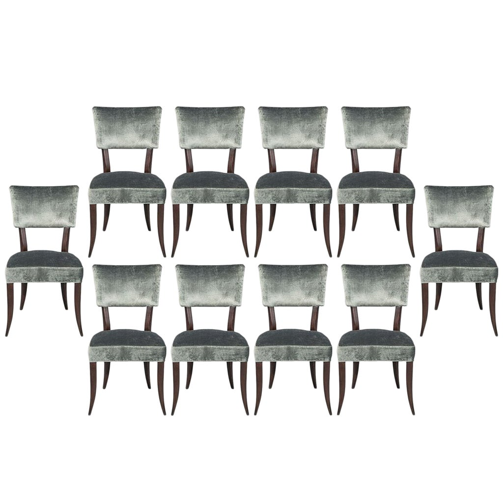 Set of 10 Elis Mid-Century Modern Style Dining Chairs
