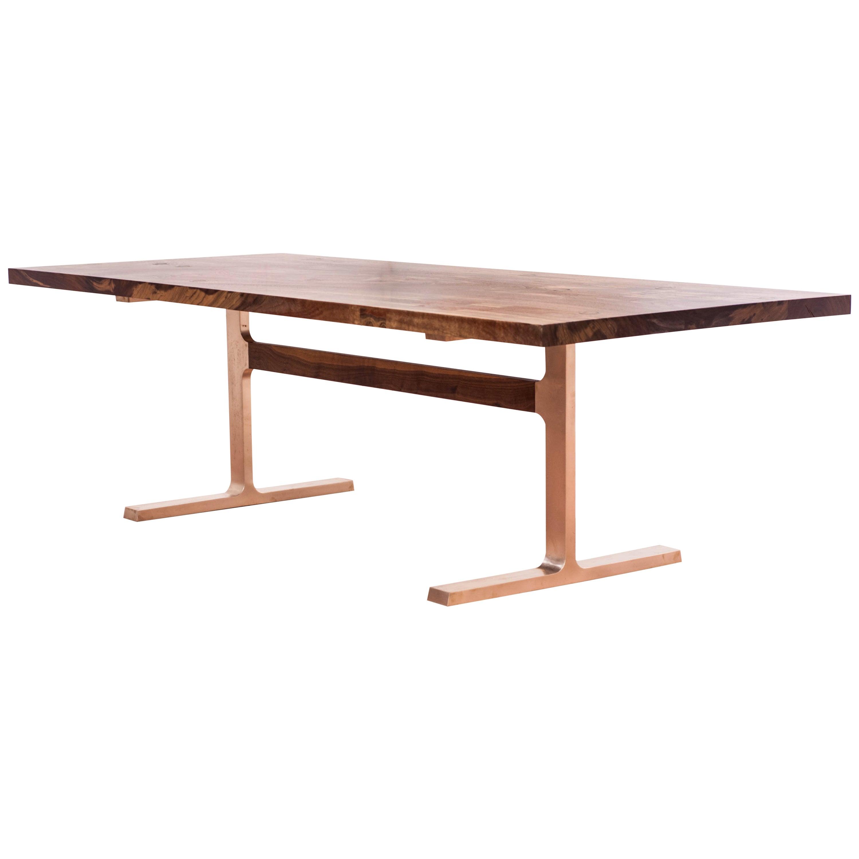 Claro Walnut Bronze Shaker Table