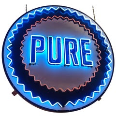 Pure Oil Animated Neon Sign, 1950s