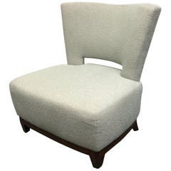 A. Rudin Upholstered Model No. 642, Armless Chair
