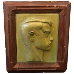 Art Deco Plaster Italian Boy's Head, circa 1930