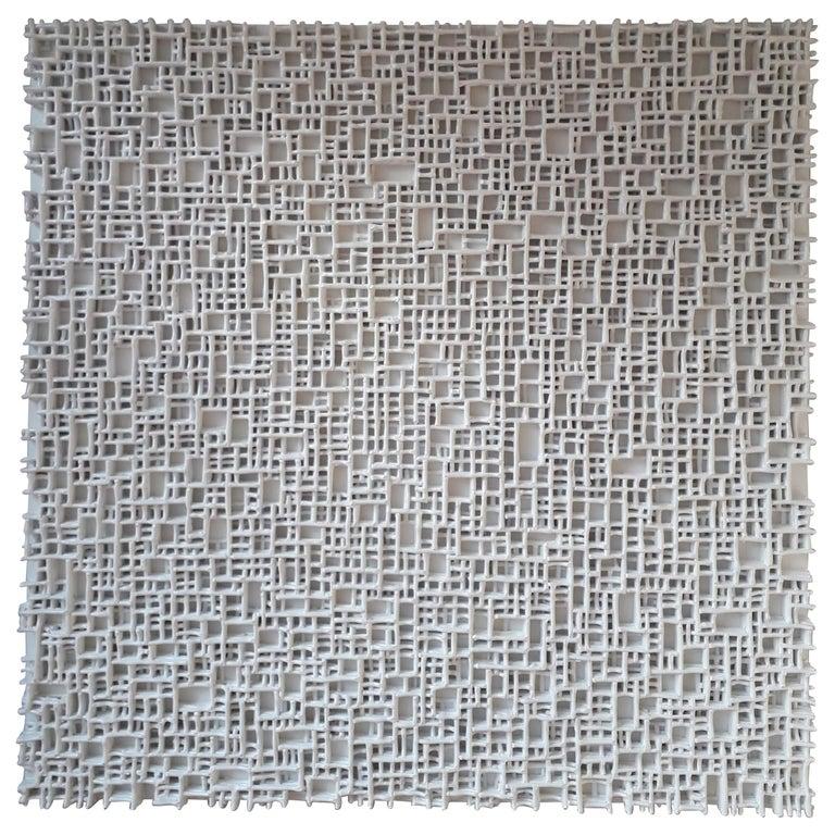 Contemporary Art, Minimal and Zero Art, Acrylic Fiber Weave Sculpture For Sale