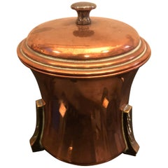 Art Deco British Copper and Brass Tea Caddy, circa 1930