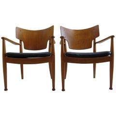Midcentury Danish Chairs by Peter Hvidt and Orla Molgaard for Portex, 1940s