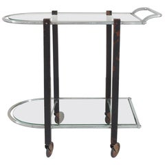 Art Deco Bauhaus Modernist Bar Cart or Serving Table, the Netherlands, 1930s