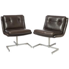 Pair of Lounge Chairs by Raphael Raffel, P.T.T. France 1974