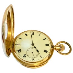 18-Karat Gold Swiss Half Hunter Minute Repeater Pocket Watch