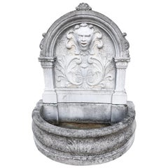 Unique Cast Cement Rich Garden Fountain, Italy, circa 1950